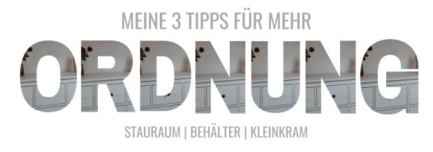 Stauraum _