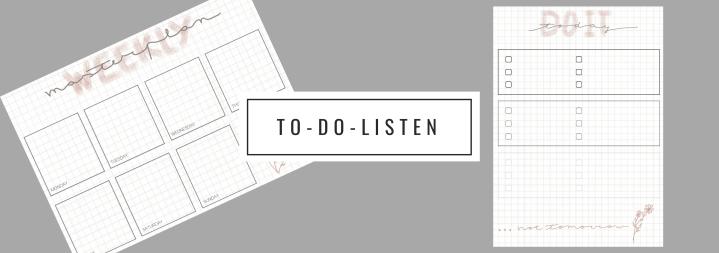 Wöchentliche & tägliche To-Do-Listen: Tipps &Printables